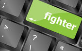 Fighter button on computer pc keyboard key — Stock Photo