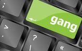 Gang button on computer pc keyboard key — Foto de Stock