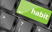 Habit word on computer pc keyboard key — Stock Photo