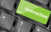 Close up view on conceptual keyboard - instruction — Stock Photo