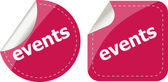 Events stickers set, icon button set isolated on white — Stock Photo