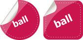 Ball word on stickers button set, label — Stok fotoğraf