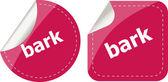 Bark word on stickers button set, business label — Stok fotoğraf