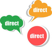 Direct word on modern banner design template. set of stickers, labels, tags, clouds — Stock Photo