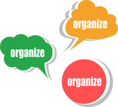 Organize. Set of stickers, labels, tags. Business banners, Template for infographics — Stockfoto