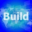 The word build on digital screen, business concept — Stock Photo #48952939