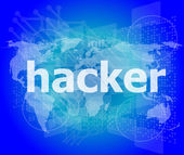 Privacy concept: words Hacker on digital background — Stock Photo