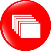 Folders on web icon, button isolated on white — Stock Photo