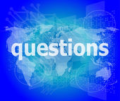Education concept: words Questions on digital background — Stock Photo