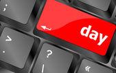 день кнопку на клавиши клавиатуры компьютера pc — Стоковое фото