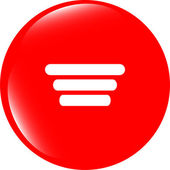 List sign icon. Content view option symbol. web shiny button — Stock Photo