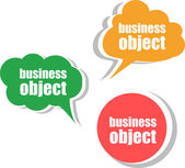 Business object. Set of stickers, labels, tags. Template for infographics — Stock Photo