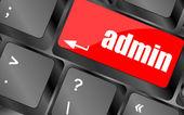 Admin-Button auf einer Computer-Tastatur-Tasten — Stockfoto