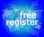 Digital background with free registration word. global internet concept — Stock Photo