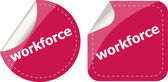 Workforce word on stickers button set, label, business concept — Stock Photo