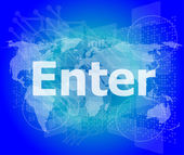 The word enter on digital screen, business concept — Stock Photo