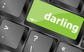 Darling button on computer pc keyboard key — ストック写真
