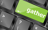 Gather button on computer pc keyboard key — Stok fotoğraf