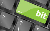 Bit enter button on computer pc keyboard key — Stock Photo