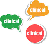 Clinical. Set of stickers, labels, tags. Template for infographics — Foto Stock