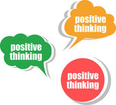 Positive thinking. Set of stickers, labels, tags. Template for infographics — Foto Stock