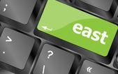 Wschód słowo klucz klawiatury komputera pc — Zdjęcie stockowe