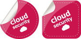 Cloud security stickers label tag set isolated on white — Stock Photo