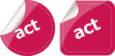 Act stickers set, icon button isolated on white — Stock Photo