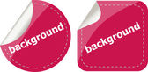 Background word on stickers button set, label — Stock Photo