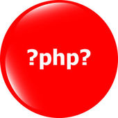 PHP sign icon. Programming language symbol. Circles buttons — Stock Photo