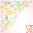 Vector valentine love heart romantic birthday background — Stock Vector #7405105