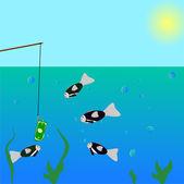 Fisning — Stock Vector
