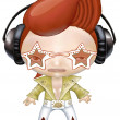 Stock Photo: Rock star wearing headphones