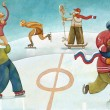 Winter olympic sport - Stock Photo