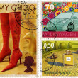 Postage-stamp design - Stock Photo