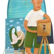 Stock Photo: Beach photographer