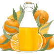 Bottle of orange juice - Foto Stock