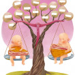 Genealogical tree — Stock Photo #23363808