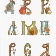 Dropped russian capital letters - Stock Photo