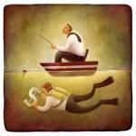 Illustrative model of freelance job — Stock Photo