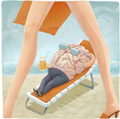 Brain's vacation — Stock Photo