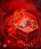 Diabeł prizehunter — Zdjęcie stockowe