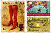 Postage-stamp design — Stock Photo