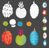 Exotic tropical fruits — Stock Photo
