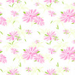 Colorful Flower Seamless Pattern Background — Stock Vector
