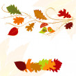 Autumn leaf greeting card — Stock Vector