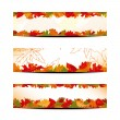 Stock Vector: Set of Colorful Autumn Leaves Banner or Web Header