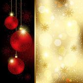 Christmas Crystal Ball Greeting Card — Stock Vector