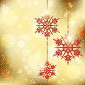 Sparkling Christmas Snowflakes Background — Stock vektor