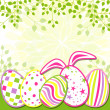 Springtime Easter Holiday Greeting Card — Stock Vector